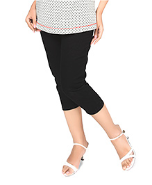 Nine Maternity Slim Fit Capri- Black Denim