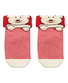 Mustang Socks Bunny Face - Red