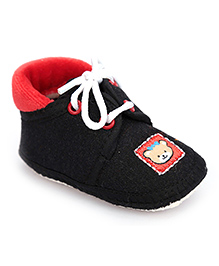 Cute Walk Denim Booties With Lace Small - Black And Red