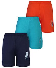 Babyhug Shorts Multi Color - Set of 3