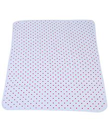 Babyhug Baby Towel Star Print - Red