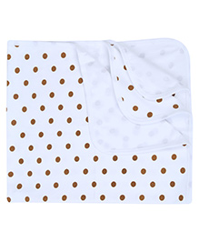Babyhug Baby Towel Bobby Print - Orange And Blue