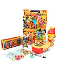 Winnie The Pooh School Kit Yellow - Pack Of 8