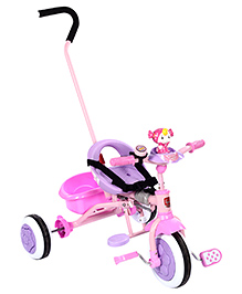 Tricycle With Push Handle Baby Doll Design - Purple