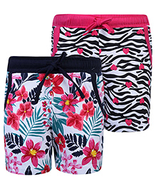 Doreme Printed Shorts With Drawstring - Set Of 2 - 24 To 30 Months