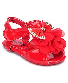 Bash Party Sandals Applique Design - Red