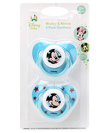 Disney International Mickey And Minnie Pacifier Pack Of 2 - Blue
