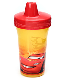 Disney International Cars Slim Line Cup Red And Yellow -270 ml