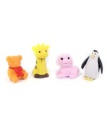 Animal Shape Eraser Pack of 4 - Multi Color