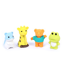 Animal Shape Eraser Pack of 4 - Yellow And Green