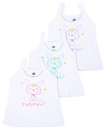 Zero Slips Bunny Print Multi Color - Set Of 3 - 6 Months