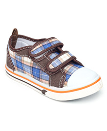 Bash Casual Shoes Checks Print - Brown