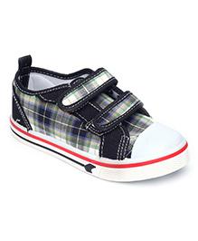 Bash Casual Shoes Checks Print - Black