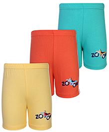 Zero Shorts Bike Print - Set of 3