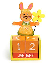 Calender Rabbit Design - Orange And Yellow