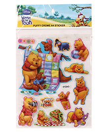 Winnie the Pooh Puffy A4 Stickers