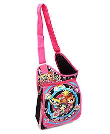 Power Puff Girls Sling Bag Printed Black And Pink - 12 Inches