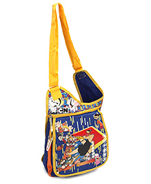 Disney International Jhony Bravo Sling Bag - Blue And Yellow