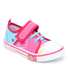 Bash Casual Shoes Flower Design - Pink And Blue