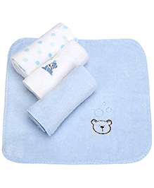 Piccolo Bambino Deluxe Wash Cloths Pack of 4 - Blue