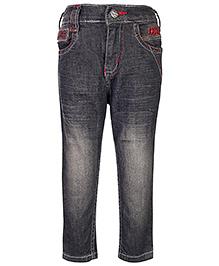 Babyhug Full Length Jeans - Black