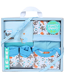 Honey Bunny Baby Layette Gift Set Pack of 5 - Blue