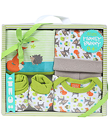 Honey Bunny Baby Layette Gift Set Pack of 5 - Green