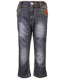 Babyhug Full Length Jeans - Slate Grey