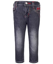 Babyhug Full Length Jeans - Light Black