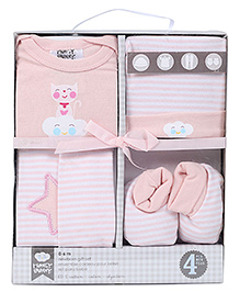 Honey Bunny Baby Layette Gift Set Pack of 4 - Pink