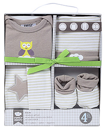 Honey Bunny Baby Layette Gift Set Pack of 4 - Grey