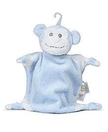 Piccolo Bambino Mini Cuddly Pal On Hook Monkey - Blue