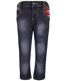 Babyhug Full Length Jeans - Light Smoky Black