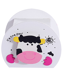 Wooden Piggy Box - White