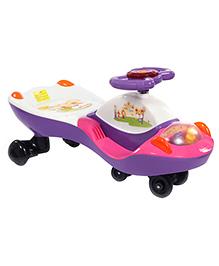 Twister Car Bear Design - Purple And White