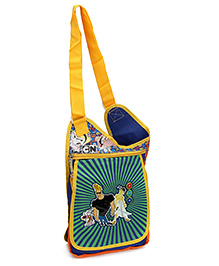 Disney International Jhony Bravo Sling Bag Blue And Green - 12 Inches