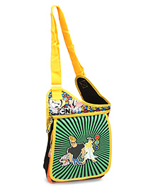 Disney International Jhony Bravo Sling Bag - Black And Green - 26 X 9 X 30 Cm
