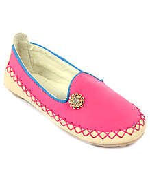 Cute Walk Slip-On Shoes Studded Design - Fuchsia Pink