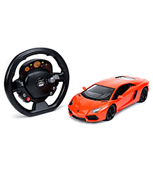 SW RC Lamborghini Car With Steering Wheel - Red