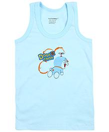 Cucumber Sleeveless Vest Doraemon Print - Sky Blue