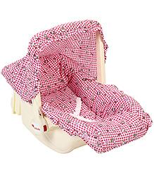 Infanto Babylove Carry Cot Cum Rocker Teddy Print - Pink