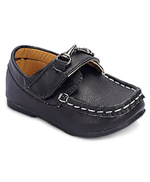 Cute Walk Loafer Shoes Velcro Closure - Black