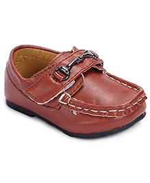 Cute Walk Loafer Velcro Closure - Brown