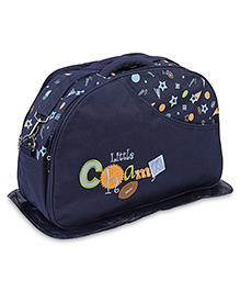 Mother Bag Little Champ And Star Print - Navy Blue