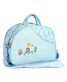 Mother Bag Sun Embroidery - Green