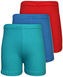 Babyhug Shorts Set of 3 - Green Blue And Red