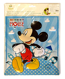 Mickey Mouse And Friends Wall Sticker Big - Red And Black
