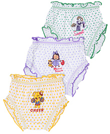 Cucumber Set Of 3 Bloomers Mixed Print - Yellow Green Purple