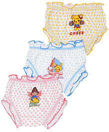 Cucumber Set Of 3 Bloomers Mixed Print - Yellow Peach Blue