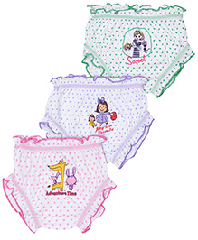 Cucumber Set Of 3 Bloomers Mixed Print - Pink Green Purple